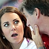 Kate Middleton and the GB ambassador were deep in conversation at an event for the London Olympic Games.