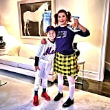 Debra Messing as Darla From Finding Nemo and Her Son as a Mets Baseball Player