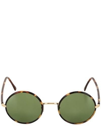 L.G.R Handmade Elliot Round Metal Sunglasses ($365)