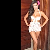 Kim sported a retro two-piece during a Hawaiian vacation in August 2012. Source: Instagram user kimkardashian