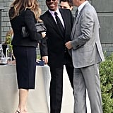 """George Clooney and His """"Official A-List"""" Bud Tom Hanks Do Lunch With the President"""
