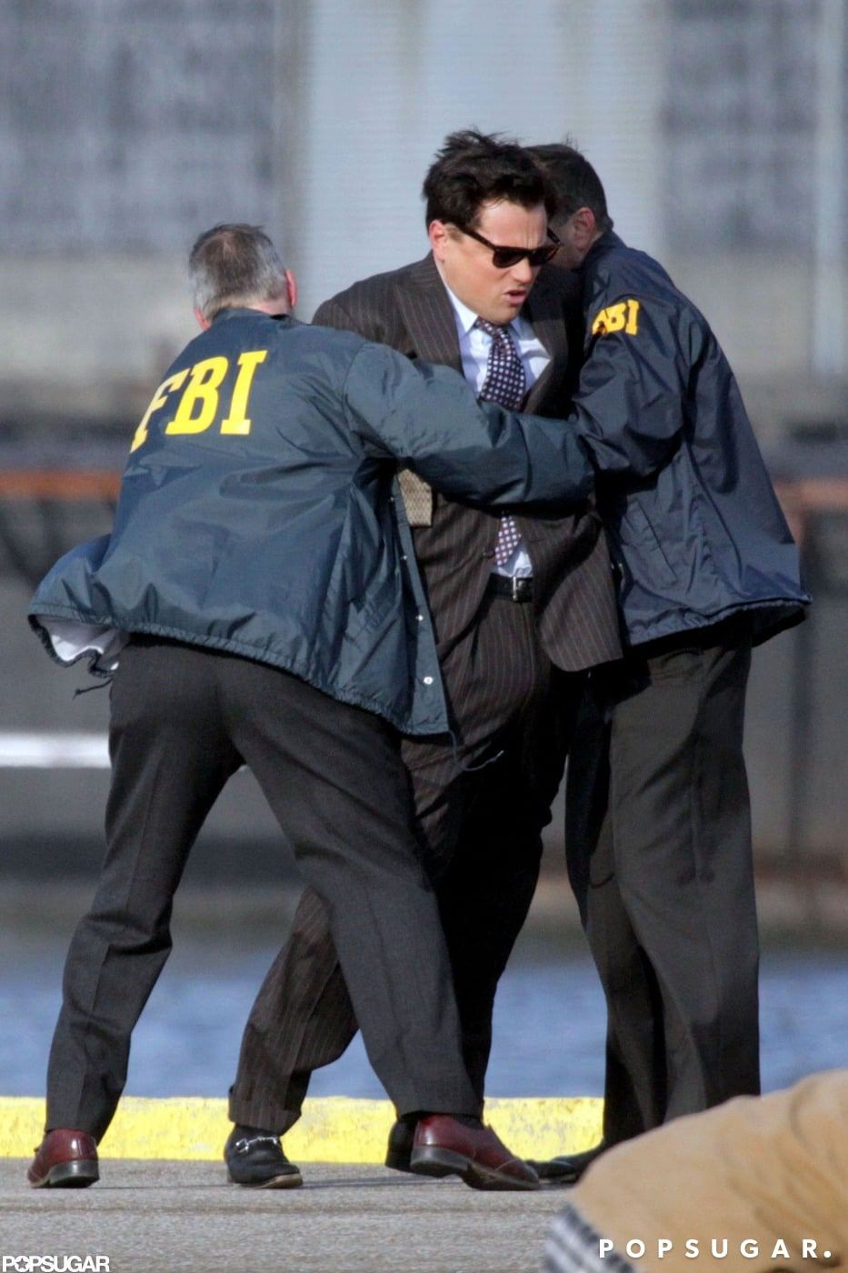 Leonardo DiCaprio Has a Run-In With the FBI on Set