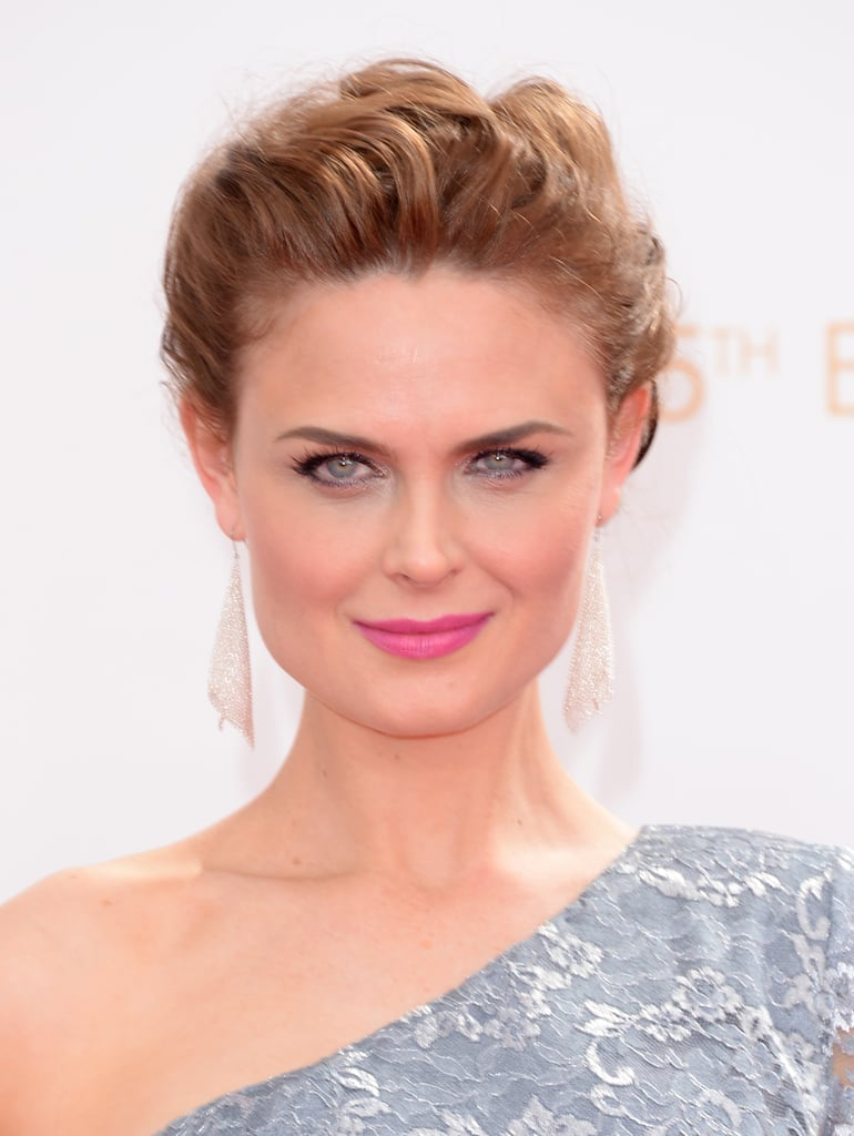 Even though Fall has begun, Emily Deschanel pulled out her vibrant, hot-pink lipstick to kick off the season right.