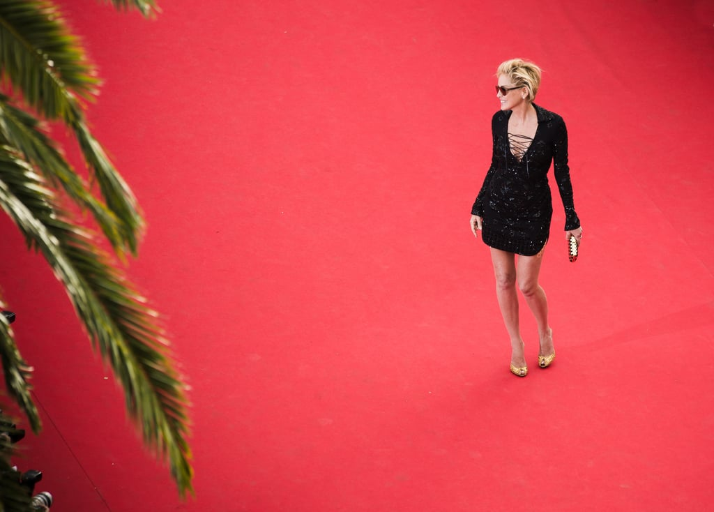 Sharon Stone stood out on the vast red carpet.