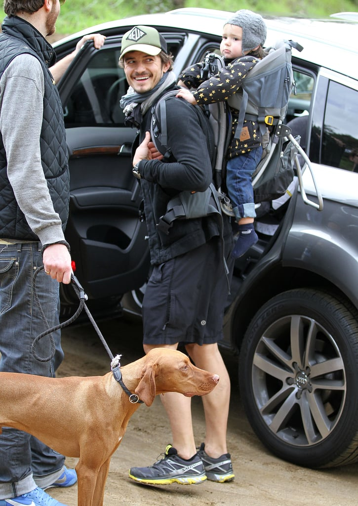 Orlando Bloom Hiking With Flynn Bloom | Pictures