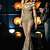 Gwen Stefani Performing in a Custom Falguni & Shane Peacock Gown