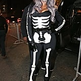 La La Anthony painted the town black and white as a creepy skeleton at P. Diddy's Emperor's Ball in 2015.