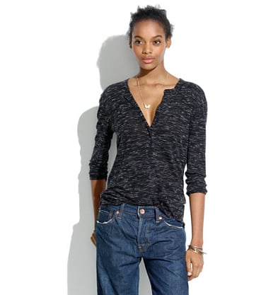 There's a perfect slouchy drape to this Madewell heathered henley ($50).