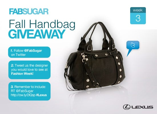 If you haven't already, be sure to enter our fabulous Fall handbag giveaway! It only takes a minute.