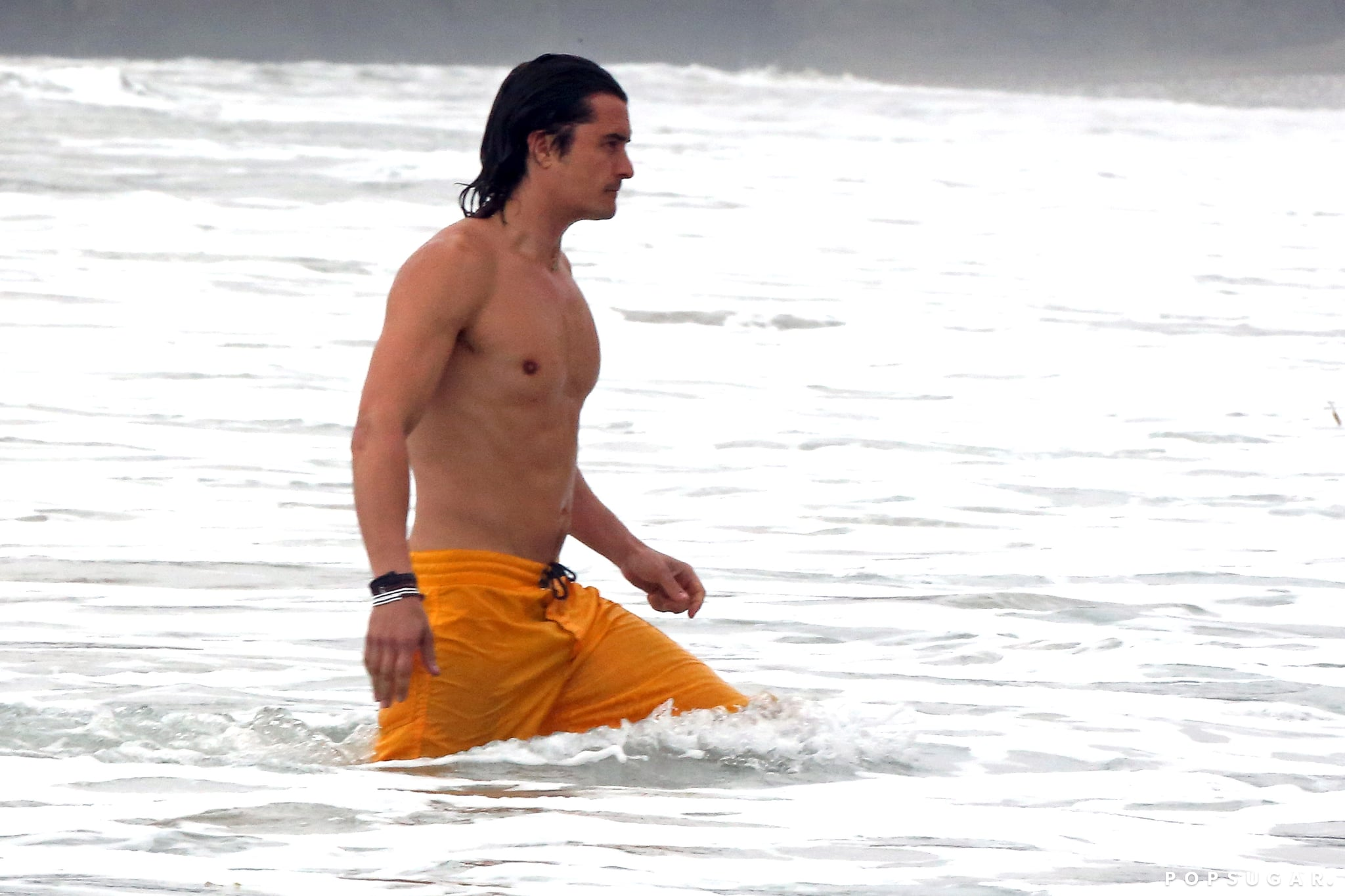 Orlando Bloom Loses His Shirt, and We Hope He Never Finds It