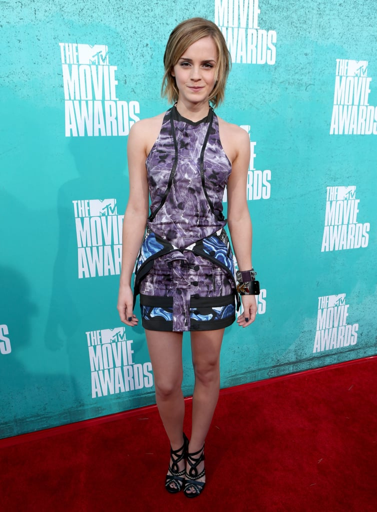 Emma Watson Makes a Red Carpet Return at the MTV Movie Awards