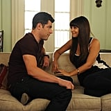Cece and Schmidt share a moment.