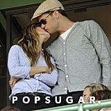 Tom and Gisele kissed during the Fenway Park 100th anniversary celebration in Boston in April 2012.