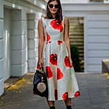 A pretty poppy-print dress