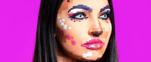 20 Reasons to Get Digital This Halloween With Pixelated Face Makeup