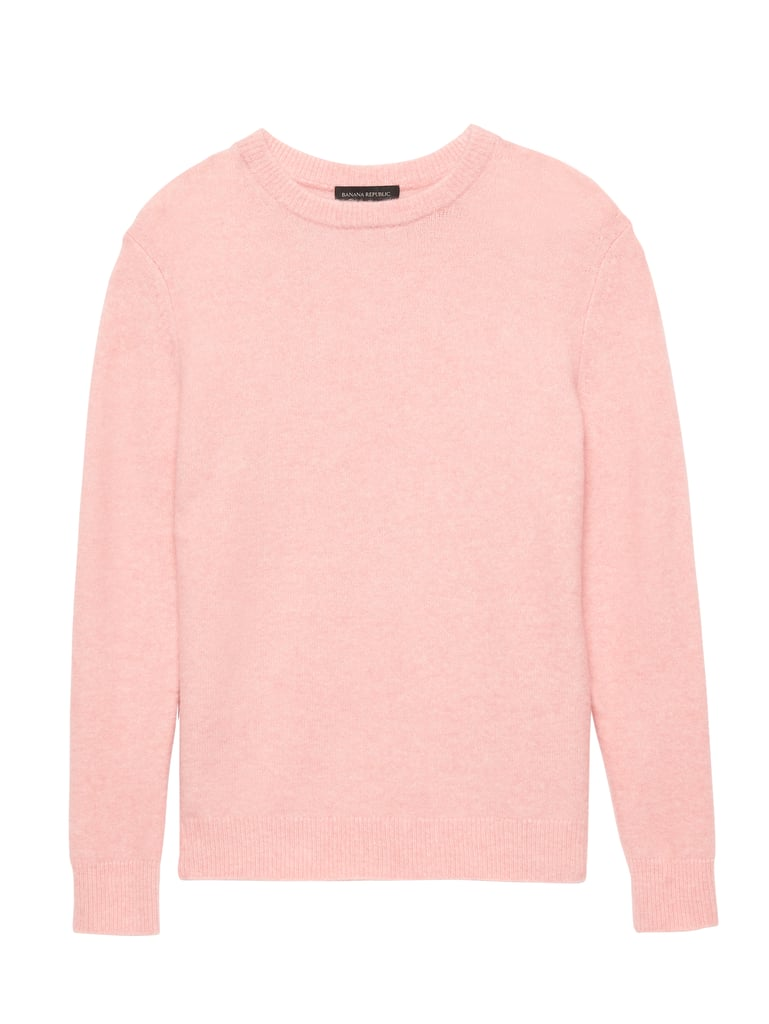 Wool Blend Crew-Neck Sweater