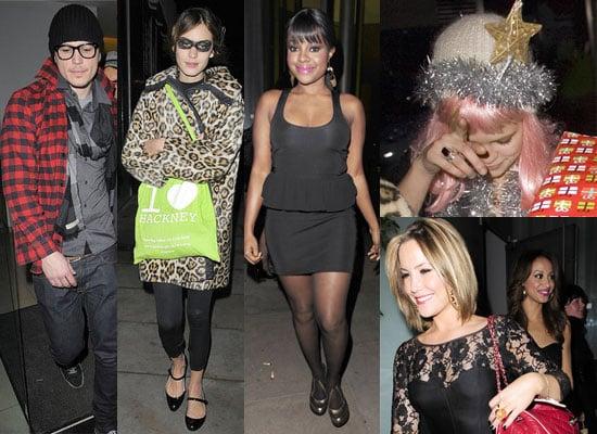 19/12/2008 Josh Hartnett, Alex Turner, Alexa Chung, Pixie Geldof