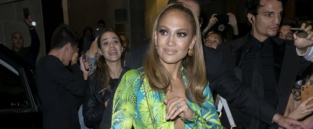 Jennifer Lopez's Versace Minidress Looks Like Grammys Gown