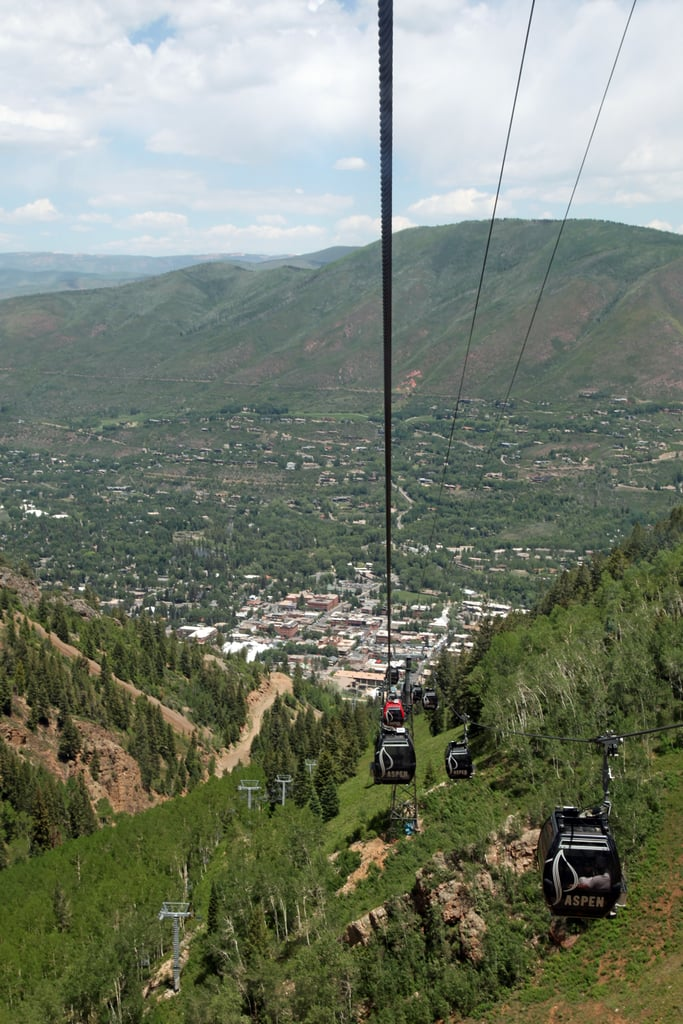 Looking Down on Downtown Aspen