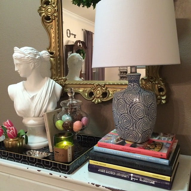 A Glass Jar Of Candy Eggs Looks Sophisticated Next To This HomeGoods Bust.