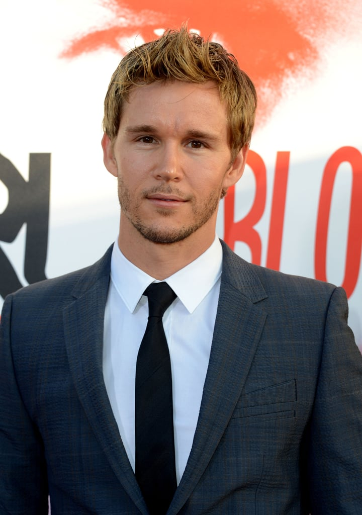 Ryan Kwanten arrived at the premiere looking good in a black tie.