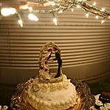 If you plan on having a homemade cake, then allow its simplicity to stand out against a bright strand of twinkly lights.