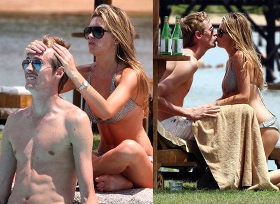 23/6/2009 Abi Clancy in Bikini with Peter Crouch on Holiday