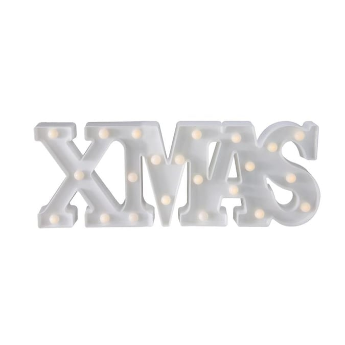 Northlight 18.5-in Battery Operated LED Lighted XMAS Christmas Marquee Sign