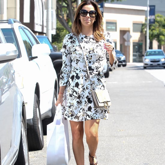 Eva Longoria Wearing a Sundress July 2016