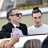 Joaquin Phoenix and Rooney Mara Arriving at the Festival