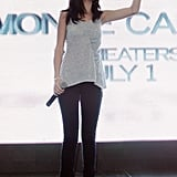 Selena Gomez took the mic to chat about Monte Carlo.