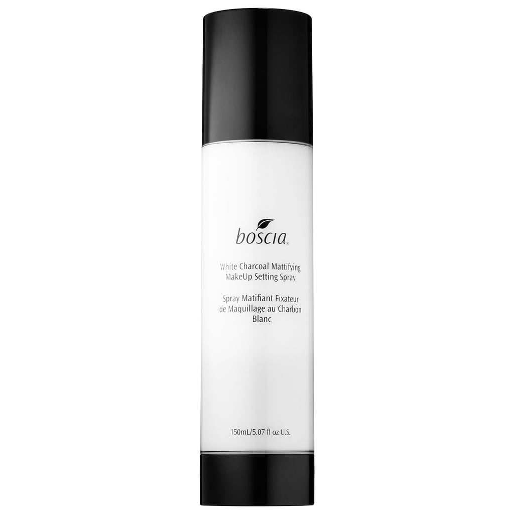 What it is: Boscia White Charcoal Mattifying Makeup Setting Spray ($38) Who it's best for: Oily skinned beauties or women wary of preservatives Why you need it: This formula is loaded with white charcoal, which balances and purifies a grease-prone complexion (and keeps oil slicks at bay). But despite containing this and sebum-absorbent kaolin clay, the spray won't dry out your skin — it also contains hydrating cucumber water and jojoba oil, so your face will never feel tight. Try using it before and after you apply your makeup for extra insurance.