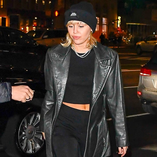 Miley Cyrus Wears a Marc Jacobs Beanie and Crop Top in NYC