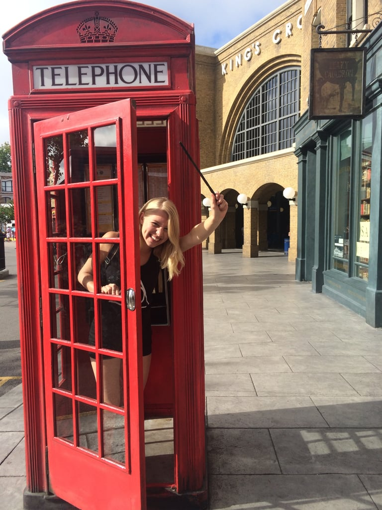 The phone booth outside of King's Cross will connect you to the Ministry of Magic.