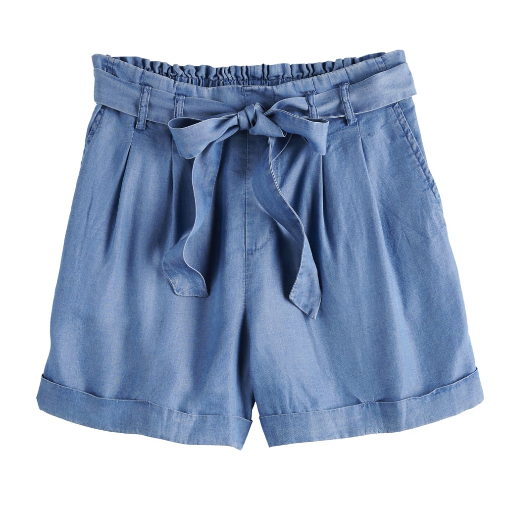 POPSUGAR Chambray Paperbag Shorts