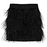 We'd wear this skirt with a fitted tank or tee tucked in.  Milly Ostrich Feather Skirt ($385)