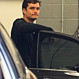 Orlando Bloom and His Father Take Care of Their Automobile Business