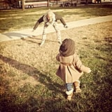 Pink shared this adorable picture while playing in the grass with her daughter, Willow Hart. Source: Twitter user Pink
