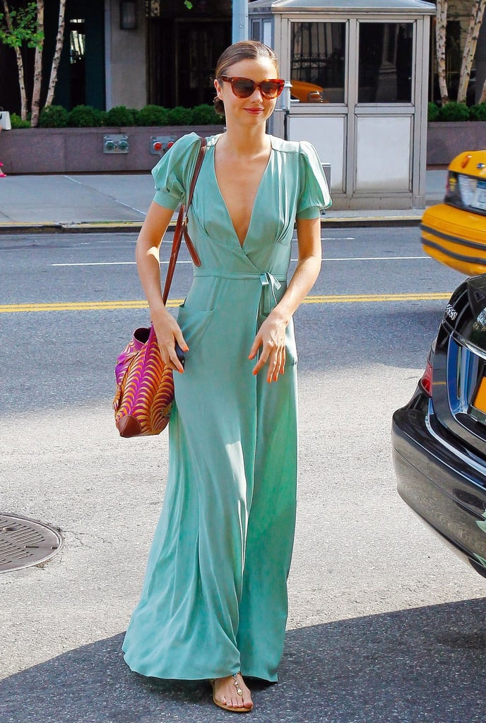In a pretty wash of mint green, Miranda nailed a dressed-up Summer look that's as covetable as it is effortless.