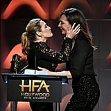 Kate Winslet and Allison Janney Kiss at Hollywood Film Award
