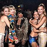 Gigi Hadid, Taylor Swift, Pepa, Halsey, and Bella Hadid at the 2019 MTV VMAs