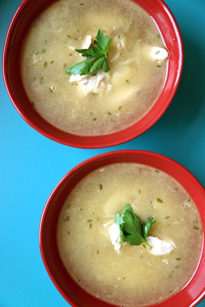 Instant Pot Garlic Chicken Soup