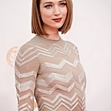House of Cards star Kristen Connolly knows how to rock this season's hottest hair trend — the bob. Her blunt cut was stick straight, while her lipstick was a berry-tinted stain.