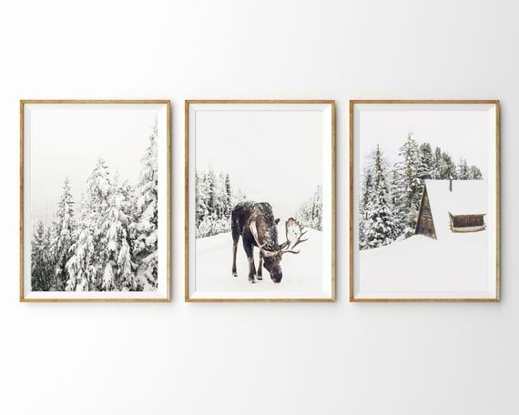 Winter Theme Set of 3 Prints