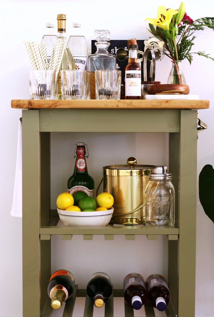 Turn a $60 Ikea Kitchen Cart Into a Gorgeous, Party-Ready Mini Bar