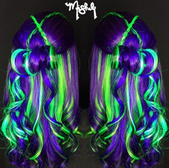 glowinthedark rainbow hair popsugar beauty australia