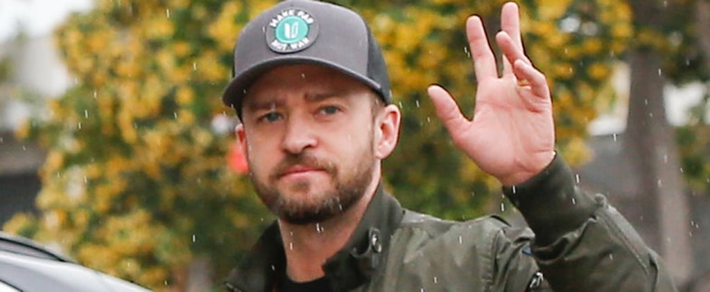 Justin Timberlake Isn't Letting Those April Showers Dampen His Day