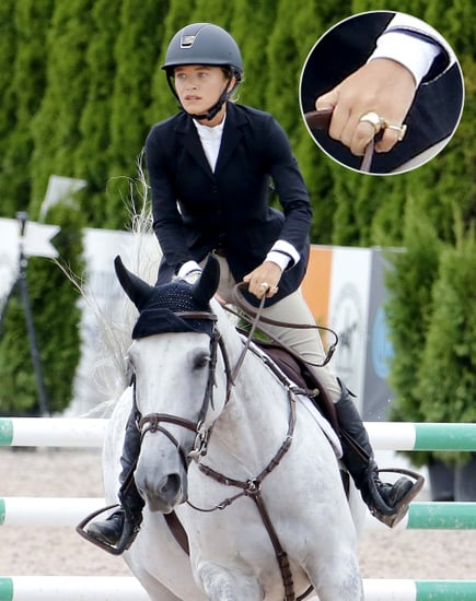 Mary-Kate Olsen Wears Engagement Ring and Two Wedding Bands While Competing in Hamptons Horse Show