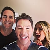 Tarek el Moussa, David Bromstad, and Christina el Moussa