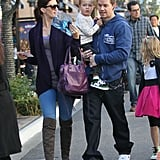 Mark Wahlberg and Rhea Durham with son Brendan.